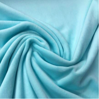 Velours cotton Oekotex Mint Blue (by meter)