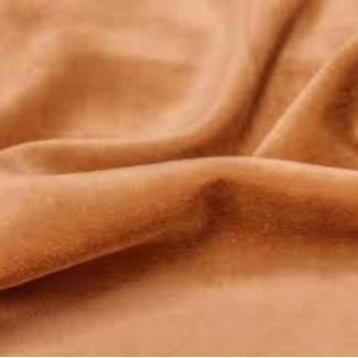 Velours de coton Oekotex Caramel (au mètre)