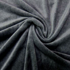 Velours cotton Oekotex Dark Grey (by meter)