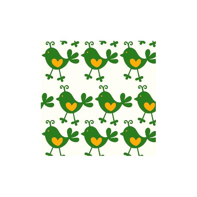 PUL poly print Green chickadee width 140cm (per 10cm)