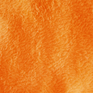 Teddy Oekotex - Orange - laize 160cm (au mètre)