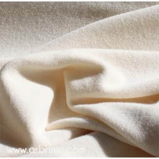 Micro-éponge monoface Coton Bio GOTS Ecru Rouleau 30m
