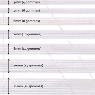 Braided Elastic White 3mm (by meter)