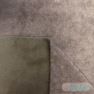 Biface Eponge Bambou et Velours Microfibre Oekotex Taupe