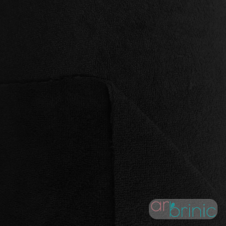 Bamboo / Microfibre Combo Velours Terry Oekotex Black 22m Roll