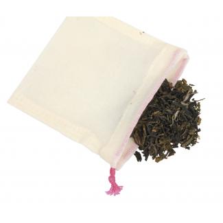 Sachet à thé coton bio réutilisable (à l'unité)