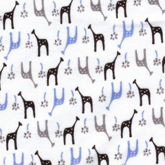 Cotton Interlock Iced Girafes (by meter)