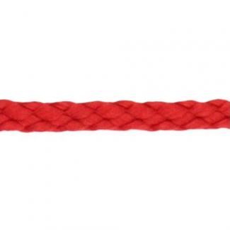 Cordon Anorak tresse plate 5mm Rouge (bobine 50m)