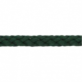 Cordon Anorak tresse plate 5mm Vert Foncé (bobine 50m)