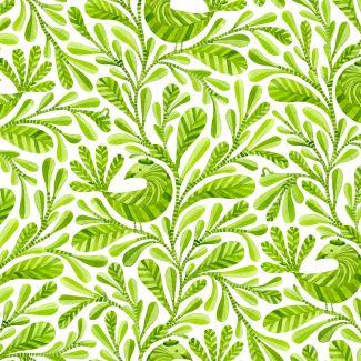 Organic cotton print Birds & Branches Margot Cloud9