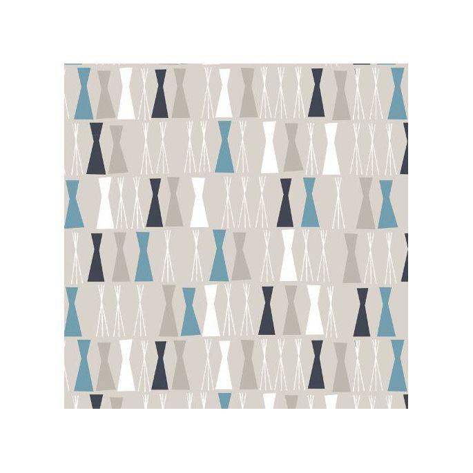 Organic cotton print Sow & Sew Pea Sticks Blue/Gray Cloud9