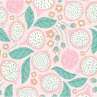 Organic cotton print Ethereal Jungle Dragonfruit Cloud9