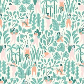 Coton Bio imprimé Ethereal Jungle Botanical Babes Cloud9