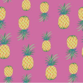 Organic cotton print Festival Pineapple Punch Monaluna