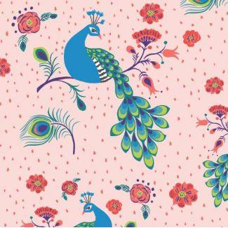 Coton Bio imprimé Festival Pretty Peacock Monaluna