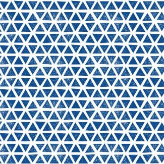Coton Bio Interlock Triangles Blue Cloud9