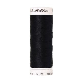 Mettler Polyester Sewing Thread (200m) Color #0821 Darkest Blue