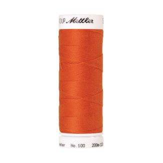 Fil polyester Mettler 200m Couleur n°1334 Orange Argile