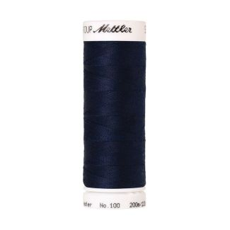 Mettler Polyester Sewing Thread (200m) Color #1465 Midnight Blue