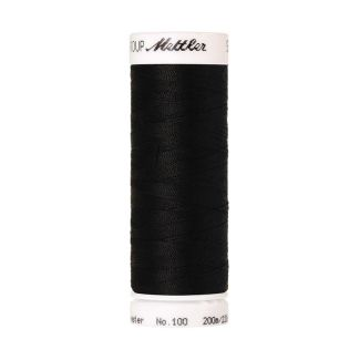 Mettler Polyester Sewing Thread (200m) Color #4000 Black