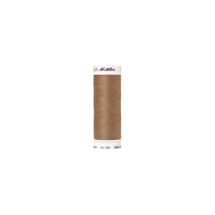 Fil polyester Mettler 200m Couleur n°0267 Rotin Foncé