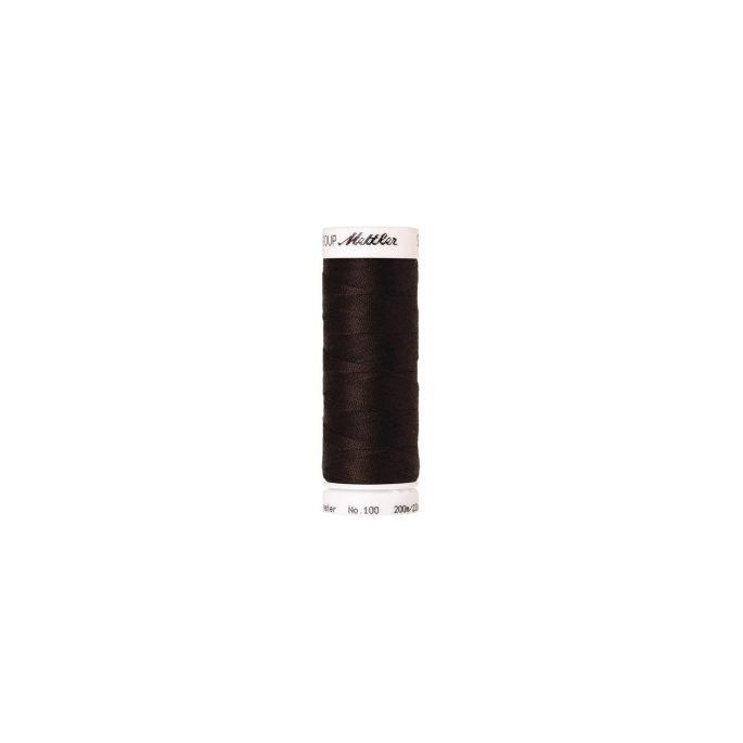 Fil polyester Mettler 200m Couleur n°1002 Marron Très Foncé
