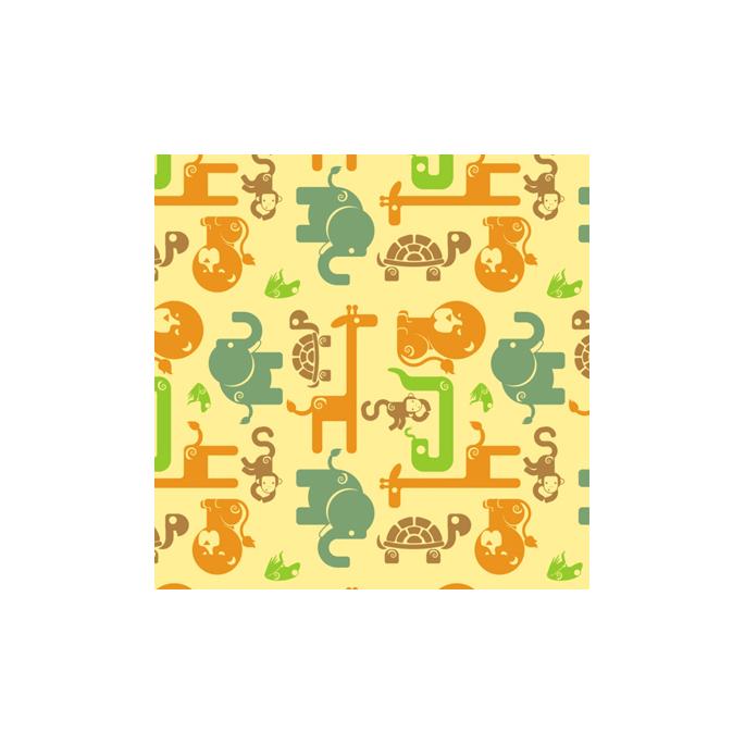 PUL poly print Safari Yellow width 140cm (per 10cm)