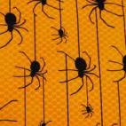 Cotton woven Spiders on yellow Robert Kaufman (per 10cm)