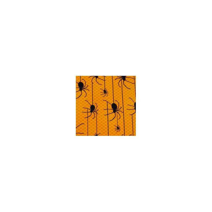 Coton imprimé Araignées sur jaune Robert Kaufman (par 10cm)