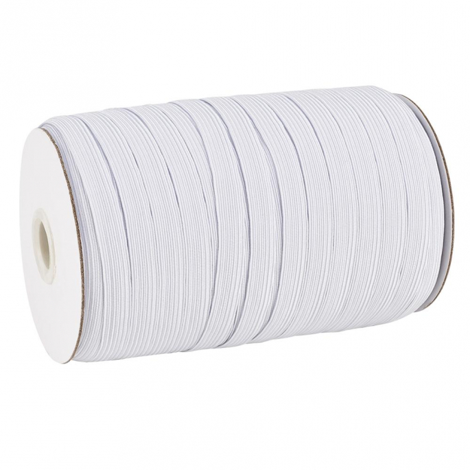 Braided Elastic White 8mm (by meter)