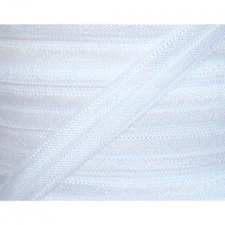 Shinny Fold Over Elastic Oekotex 25mm White (92m bobin)