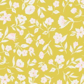 Organic cotton Sateen Wildflower Blossom Cloud9