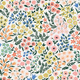 Organic cotton Sateen Wildflower Meadow Cloud9