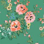 Satin Coton Bio Wildflower Sweet Rose Cloud9