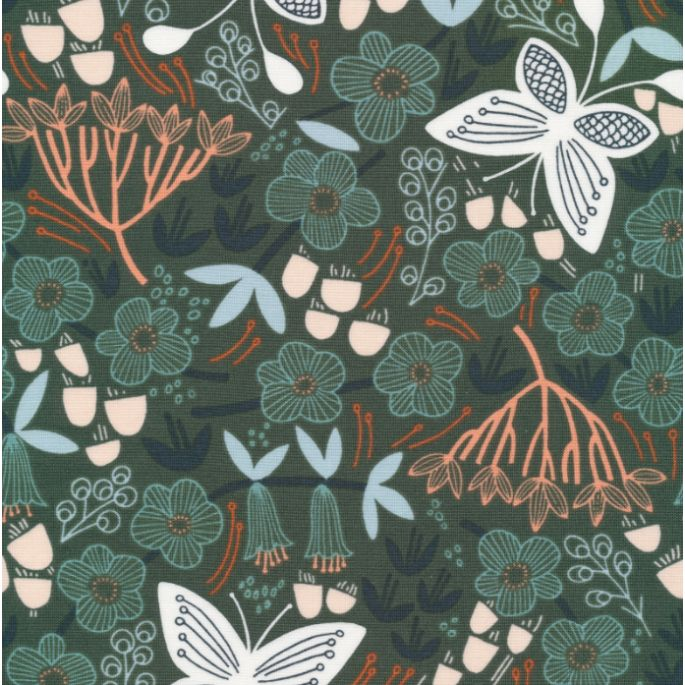 Organic cotton Popeline Stockbridge Alice Holt Green Cloud9