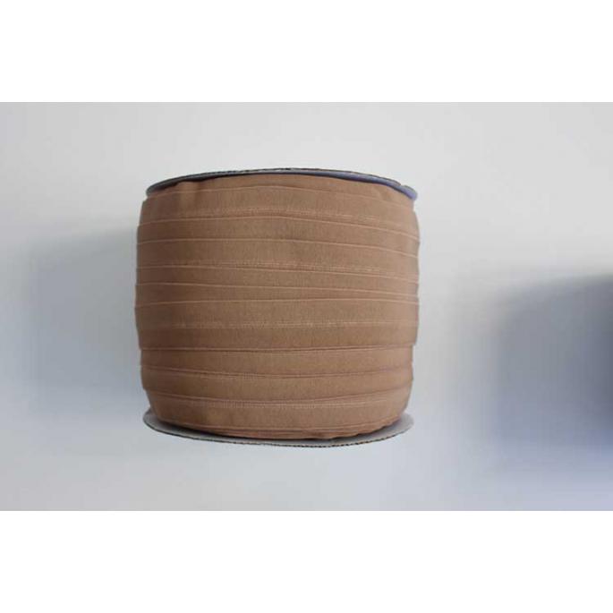 Biais élastique 2.5cm Light chocolate (1m)