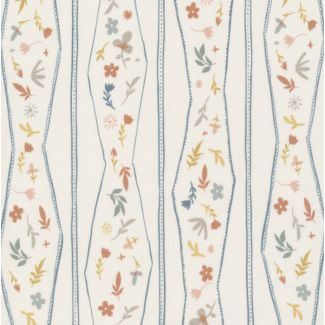 Organic cotton Popeline A House in Bloom Lydia Ivory Multi Form Cloud9