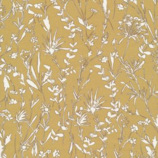 Organic cotton Popeline A House in Bloom Vanessa Gold Cloud9