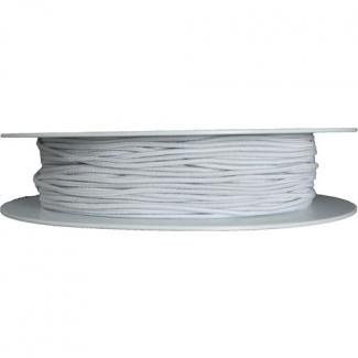 Round Cord Elastic 1.3mm White (100m roll)