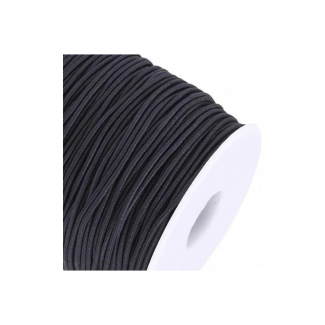 Round Cord Elastic 1.5mm Black (100m roll)
