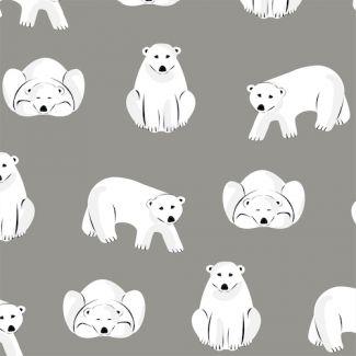Flanelle coton bio Polar Bears Gray Cloud9