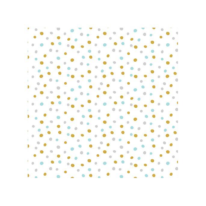 Organic cotton Flannel Confetti Turquoise Gold Cloud9