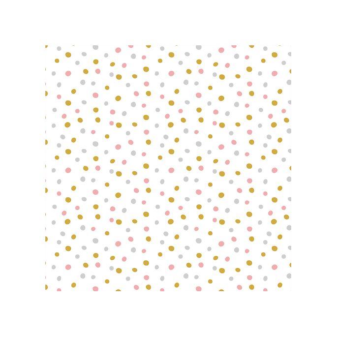 Organic cotton Flannel Confetti Pink Gold Cloud9