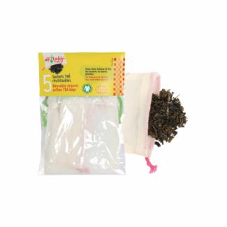 Organic Cotton Reusable Tea bag (5 bags)