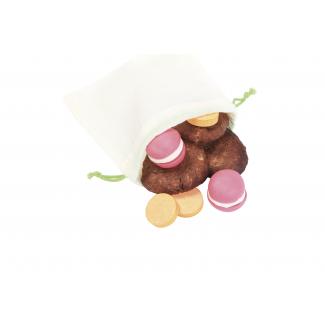 Organic Cotton Reusable Bag XS (8 pieces)