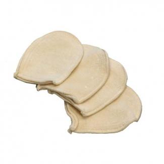 Mini Gants à Démaquiller en coton bio lavables (x4)