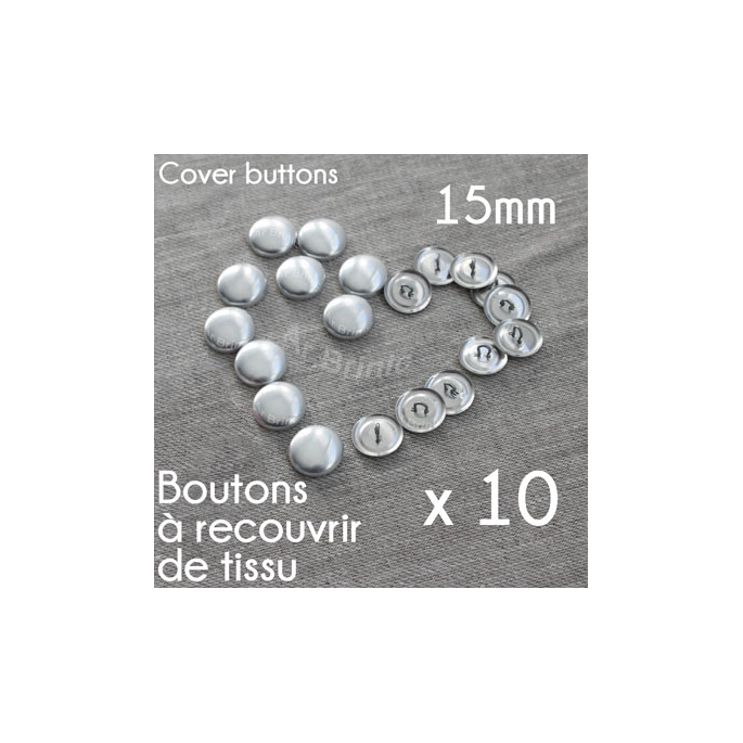 DIY fabric cover sewing button 15mm (10 buttons)