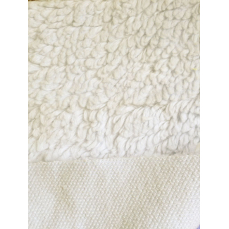 Lamb Skin plush fabric Organic Natural
