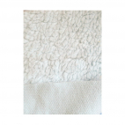 Organic cotton plush fabric