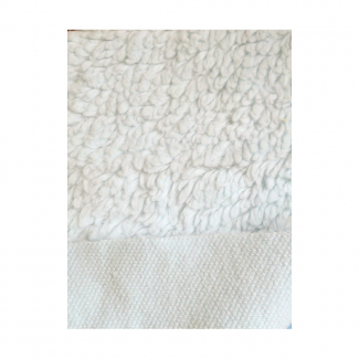 Lamb Skin plush fabric Organic Off-white